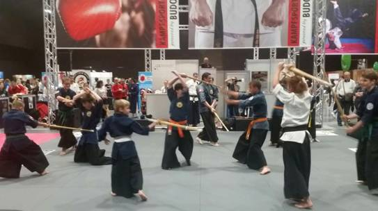 Samurai Demo an der FitnessExpo 2017 in Basel