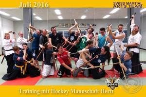 2016-06 Training mit Hockey Mannschaft Herti