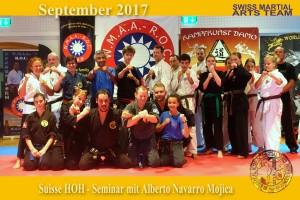 2017-09 Suisse Hall of Honours - Seminar Alberto Navarro Mojica, Shui Zhu Do, Ägeri
