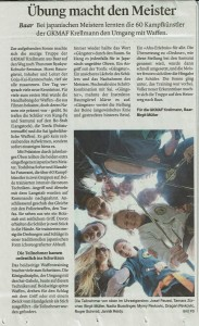 Thunseminar Zeitungsbericht